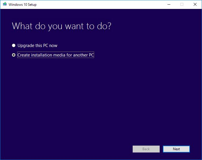 How to create windows 10 usb installer step 2